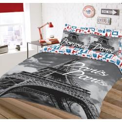 Pościel młodzieżowa Skyline Wzór Paris