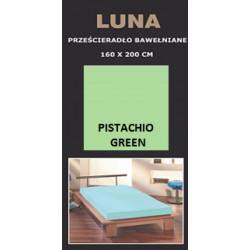 Prześcieradło bawełniane 160x200 Pistachio Green