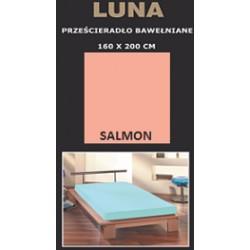 Prześcieradło bawełniane 160x200 Salmon